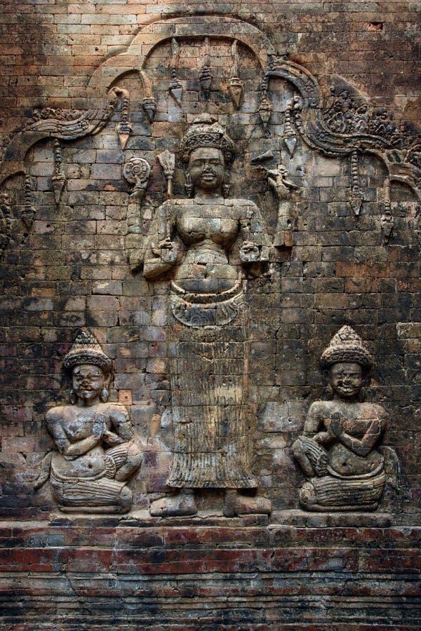 καμποτζιανός τοίχος στοκ εικόνες