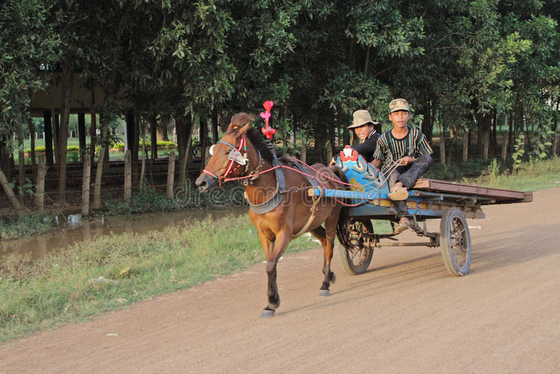 καμποτζιανό κάρρο στοκ εικόνες