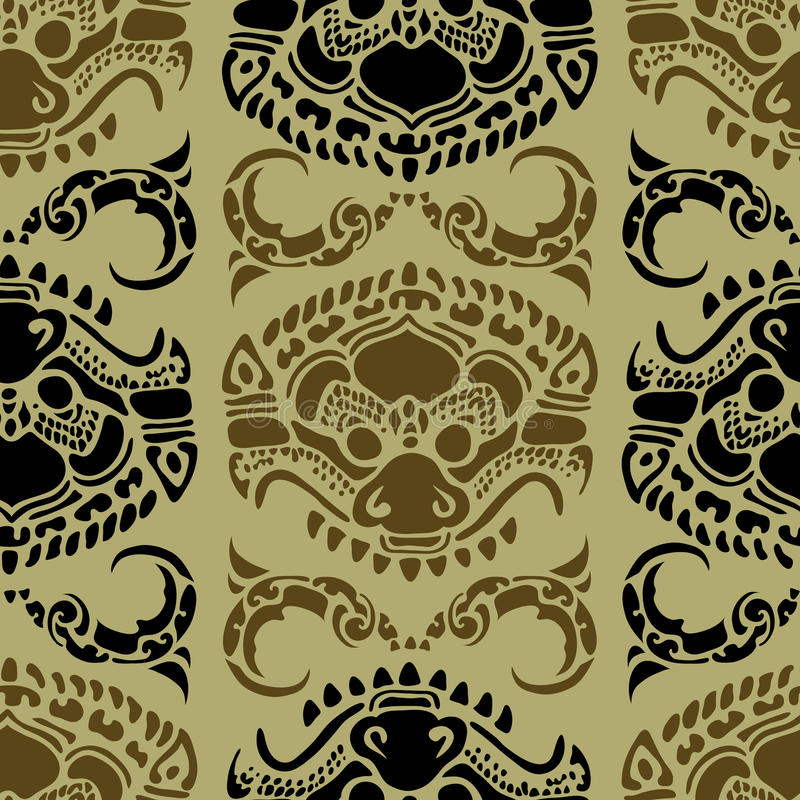 καμποτζιανό floral πρότυπο διανυσματική απεικόνιση