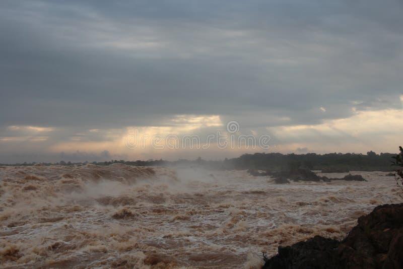 Καμπότζη Mekong ποταμός Τσιμπημένη πόλη Treng Τσιμπημένη επαρχία Treng στοκ εικόνες με δικαίωμα ελεύθερης χρήσης