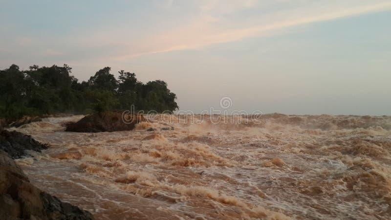 Καμπότζη Mekong Riwer Τσιμπημένη πόλη Treng Τσιμπημένη επαρχία Treng στοκ φωτογραφίες με δικαίωμα ελεύθερης χρήσης