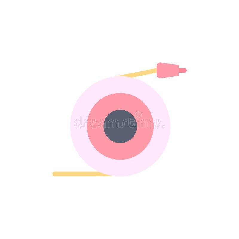 Καμπύλο, ροή, σωλήνας, εικονίδιο επίπεδου χρώματος νερού Πρότυπο πλαισίου διανυσματικού εικονιδίου ελεύθερη απεικόνιση δικαιώματος