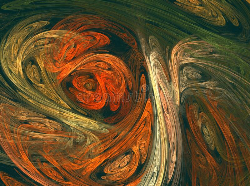 Καμπύλες στα φυσικά χρώματα απεικόνιση αποθεμάτων