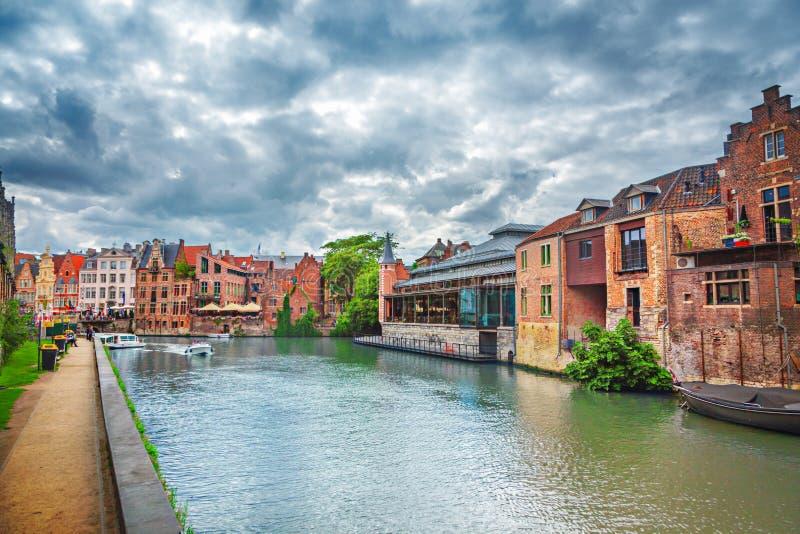 Κανάλια Gent στοκ εικόνες με δικαίωμα ελεύθερης χρήσης