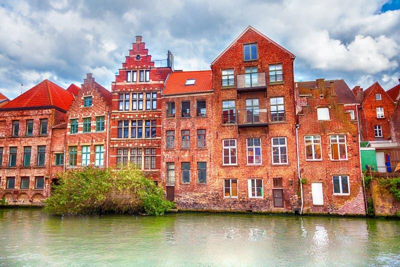 Κανάλια Gent στοκ εικόνα με δικαίωμα ελεύθερης χρήσης