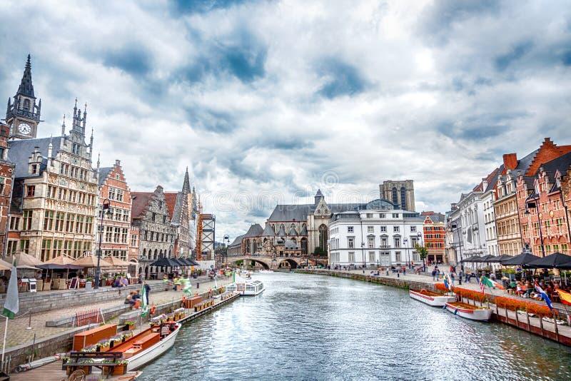 Κανάλια Gent στοκ φωτογραφία