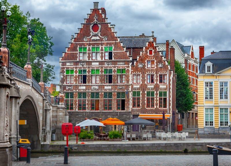 Κανάλια Gent στοκ εικόνες