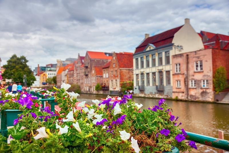 Κανάλια Gent στοκ φωτογραφία με δικαίωμα ελεύθερης χρήσης