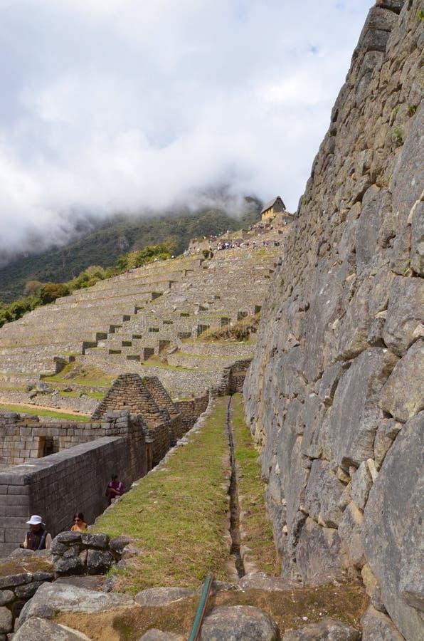 Κανάλι στις καταστροφές Machu Picchu στοκ φωτογραφία με δικαίωμα ελεύθερης χρήσης