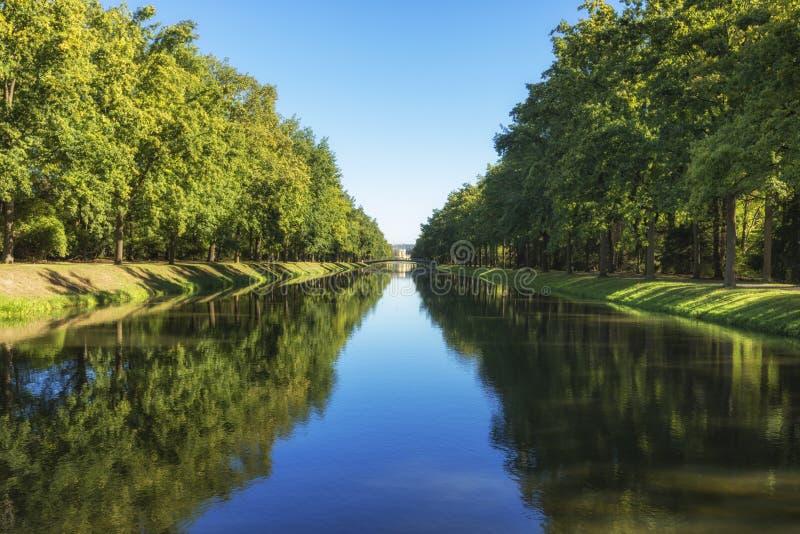 Κανάλι στο πάρκο Karlsaue, Kassel, Γερμανία στοκ φωτογραφίες με δικαίωμα ελεύθερης χρήσης