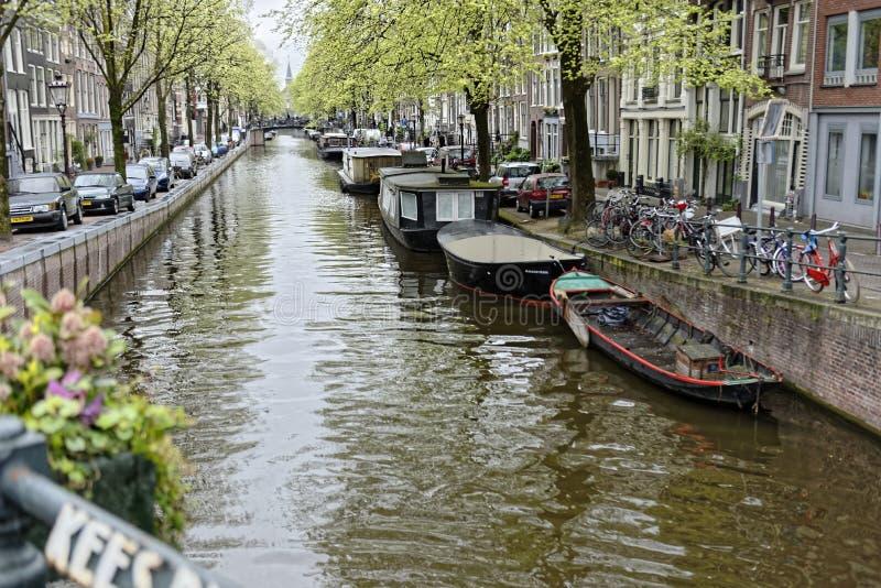 Κανάλι του Άμστερνταμ, Ολλανδία στοκ εικόνα