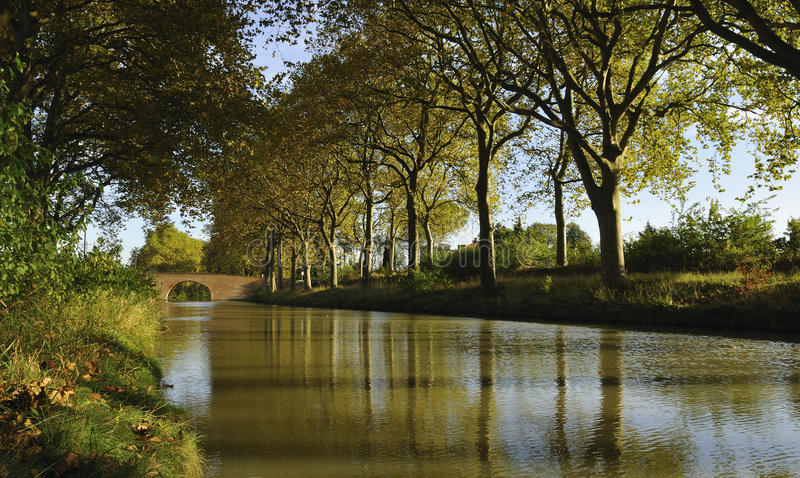 κανάλι du Midi στοκ φωτογραφίες με δικαίωμα ελεύθερης χρήσης
