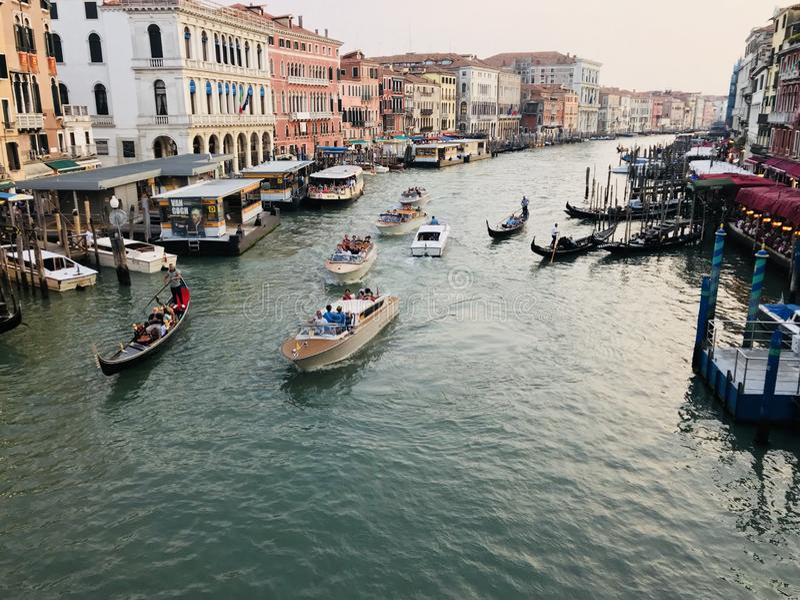 κανάλι grande Ιταλία Βενετία στοκ φωτογραφία