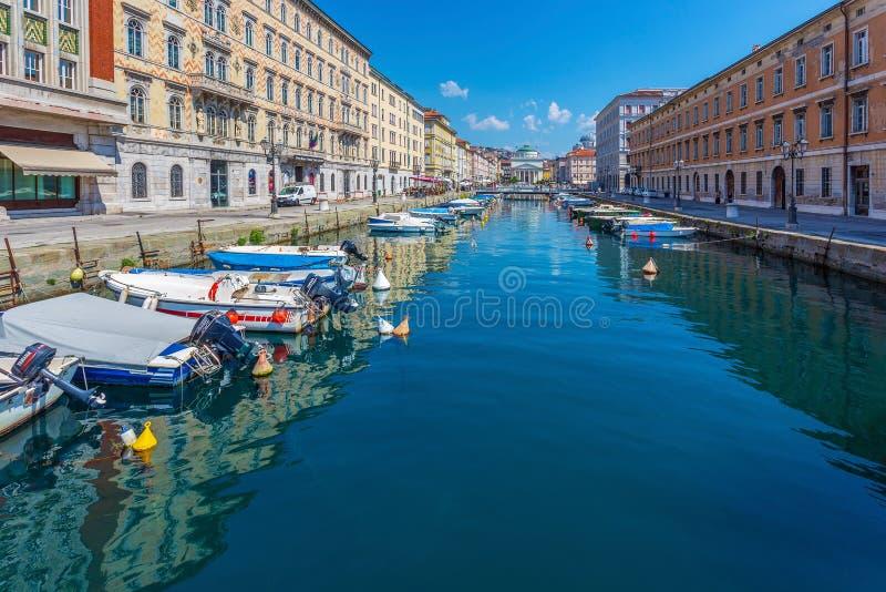Κανάλι Grande στην Τεργέστη, Ιταλία στοκ φωτογραφία με δικαίωμα ελεύθερης χρήσης