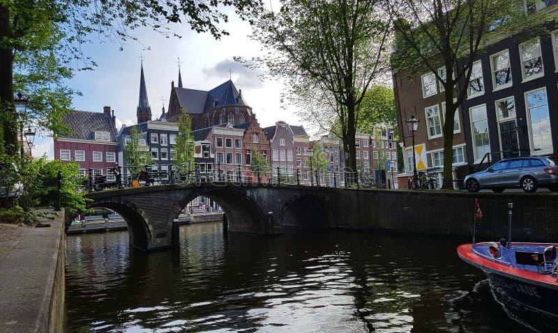 Κανάλι Herengracht στο Άμστερνταμ στοκ φωτογραφία με δικαίωμα ελεύθερης χρήσης