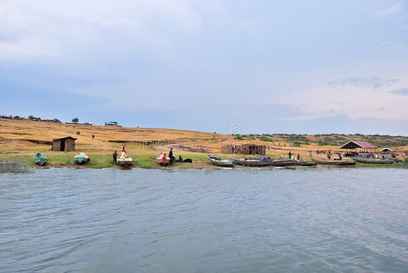 Κανάλι Kazinga, βασίλισσα Elizabeth National Park, Ουγκάντα στοκ εικόνα με δικαίωμα ελεύθερης χρήσης