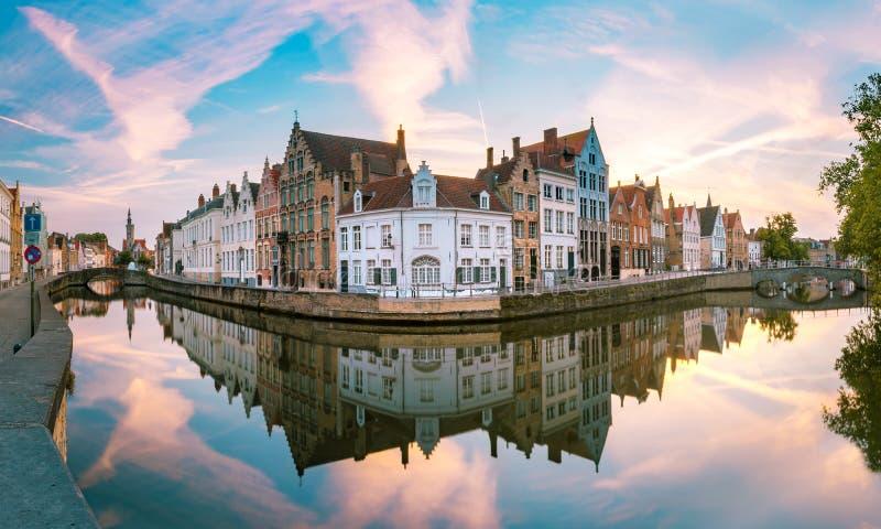 Κανάλι Spiegelrei, Μπρυζ, Βέλγιο στοκ εικόνες