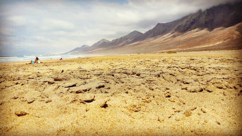 κανάρια ιστιοσανίδα νησιών νησιών fuerteventura cofete παραλιών στοκ εικόνες