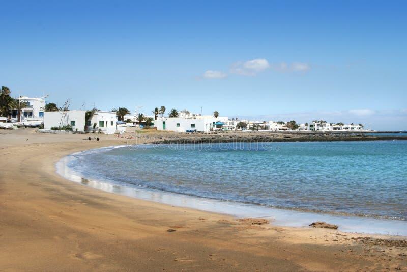 Κανάριο νησί Lanzarote παραλιών στοκ εικόνες