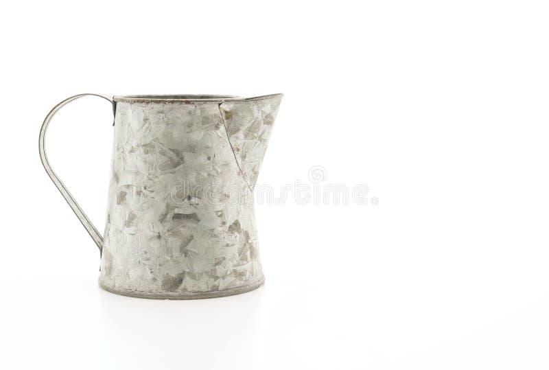 κανάτα σιδήρου στο λευκό στοκ φωτογραφία με δικαίωμα ελεύθερης χρήσης