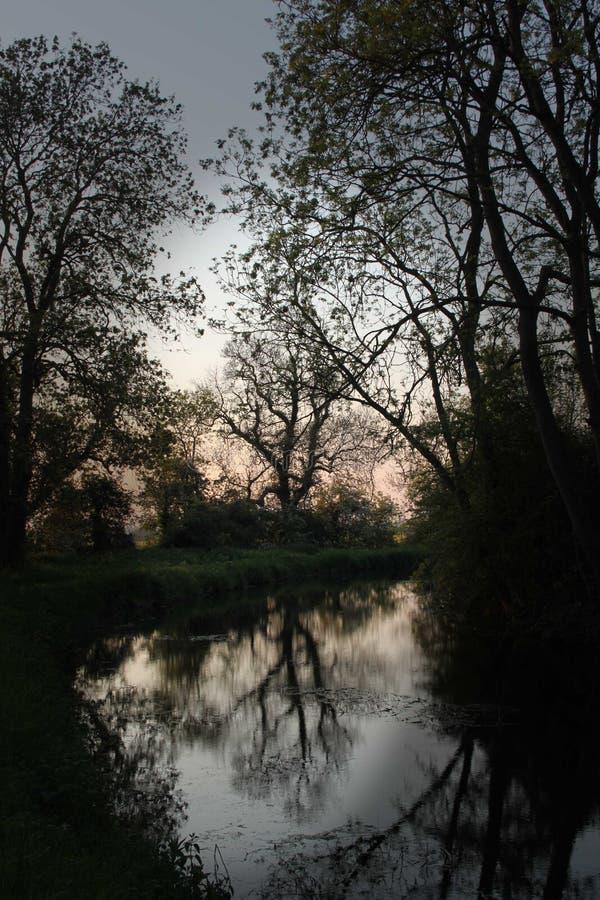 Κανάλι του Τσέστερφιλντ, Drakeholes, ξημερώματα στοκ φωτογραφία με δικαίωμα ελεύθερης χρήσης