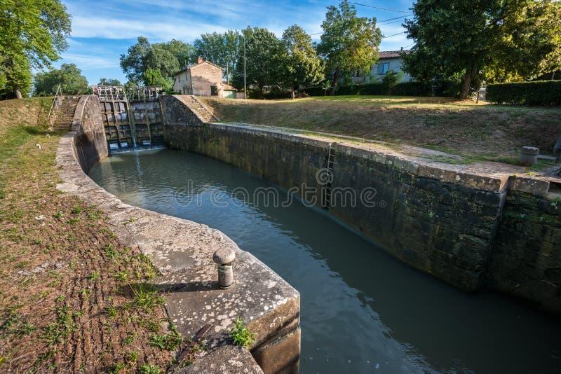 κανάλι du Midi στοκ φωτογραφίες