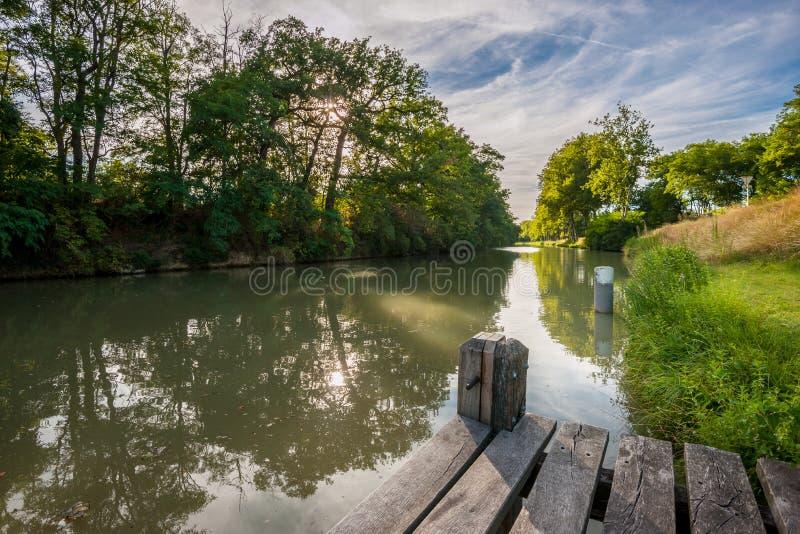 κανάλι du Midi στοκ φωτογραφία με δικαίωμα ελεύθερης χρήσης