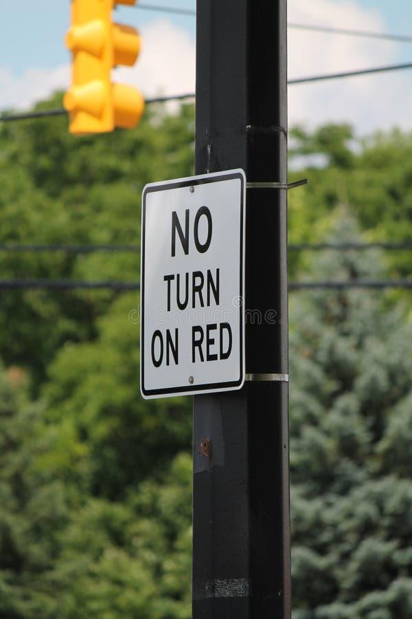 Κανένας ανοίξτε το κόκκινο σημάδι οδών στοκ εικόνες με δικαίωμα ελεύθερης χρήσης