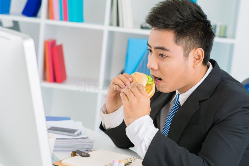 Κανένας χρόνος για το μεσημεριανό γεύμα στοκ φωτογραφία με δικαίωμα ελεύθερης χρήσης