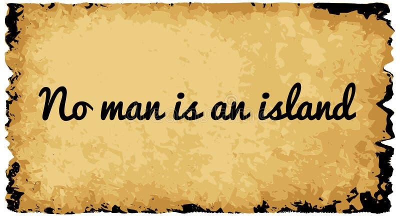 Κανένα άτομο δεν είναι ένα νησί ελεύθερη απεικόνιση δικαιώματος