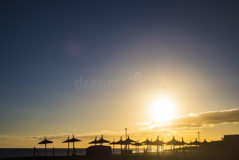 Κανένα άτομο στην παραλία tenerife στοκ εικόνες