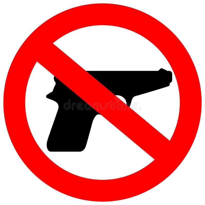 Κανένα σημάδι όπλων απεικόνιση αποθεμάτων