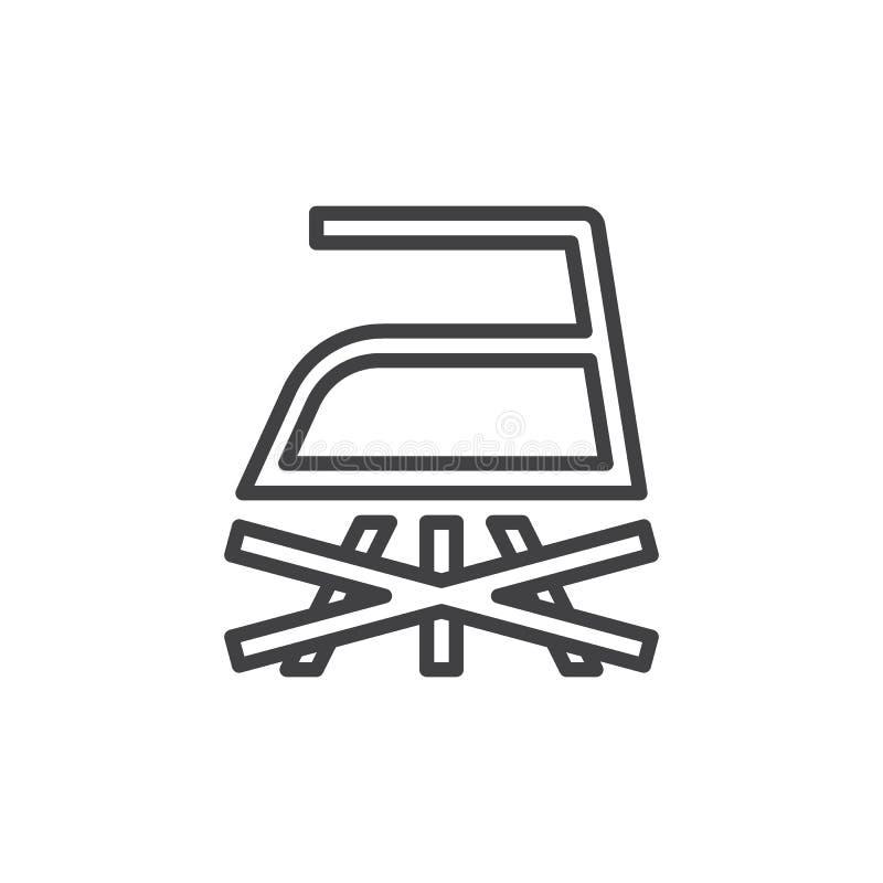 Κανένα εικονίδιο γραμμών σιδήρου ατμού διανυσματική απεικόνιση