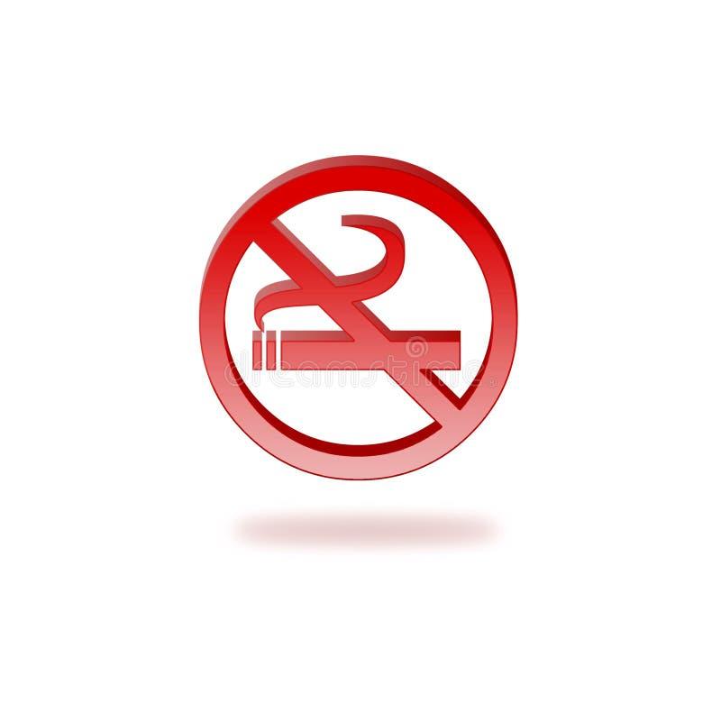 κανένα κάπνισμα σημαδιών διανυσματική απεικόνιση