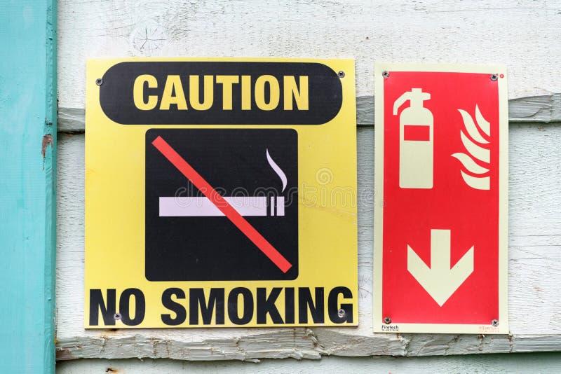 κανένα κάπνισμα σημαδιών στοκ φωτογραφία