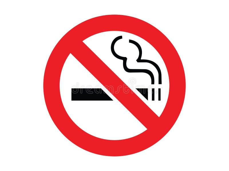 κανένα κάπνισμα σημαδιών απεικόνιση αποθεμάτων