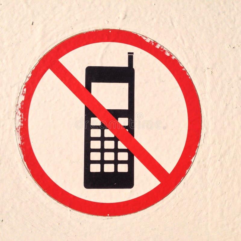 Κανένα κινητό τηλέφωνο στοκ εικόνες