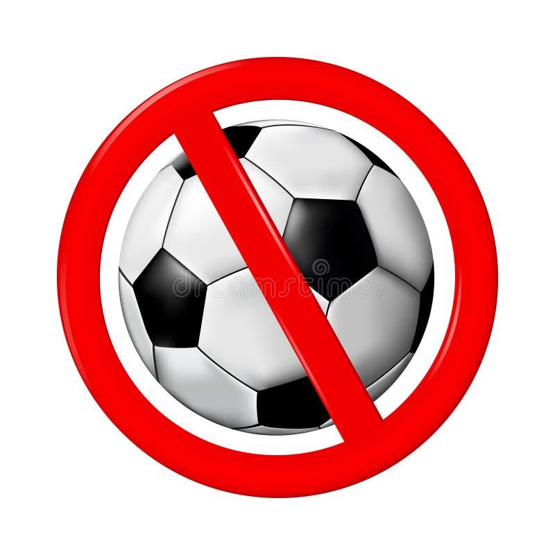 Κανένα παιχνίδι ή ποδόσφαιρο δεν υπογράφει, διανυσματική απεικόνιση διανυσματική απεικόνιση