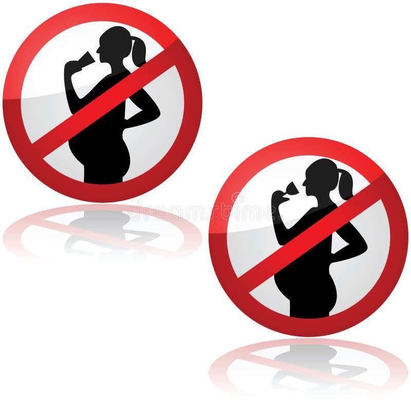 Κανένα ποτό για τις εγκύους γυναίκες ελεύθερη απεικόνιση δικαιώματος