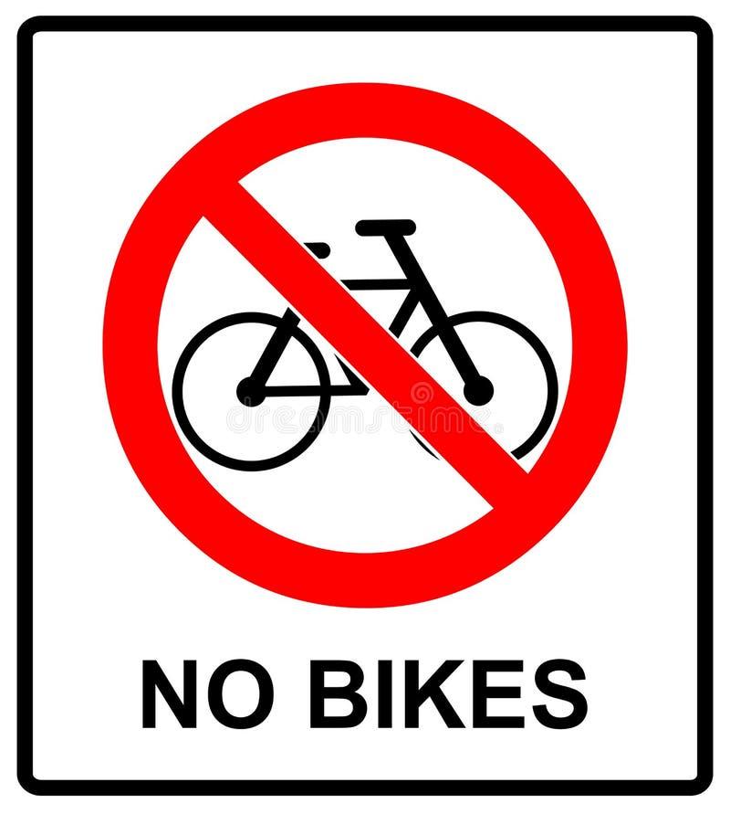 Κανένα ποδήλατο δεν υπογράφει κανένα σύμβολο ποδηλάτων για τους δημόσιους χώρους που προειδοποιούν τη διανυσματική απεικόνιση απεικόνιση αποθεμάτων