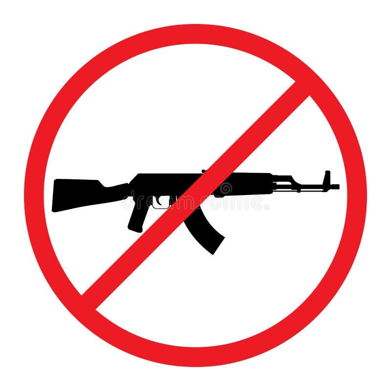 Κανένα πυροβόλο όπλο που επιτρέπεται το σημάδι ελεύθερη απεικόνιση δικαιώματος
