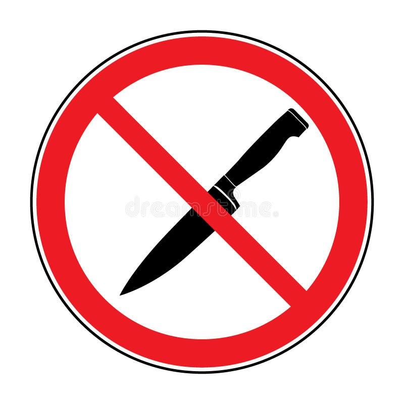 Κανένα σημάδι μαχαιριών ή όπλων απεικόνιση αποθεμάτων