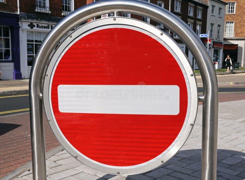 Κανένα σημάδι εισόδων, Hereford στοκ φωτογραφία με δικαίωμα ελεύθερης χρήσης