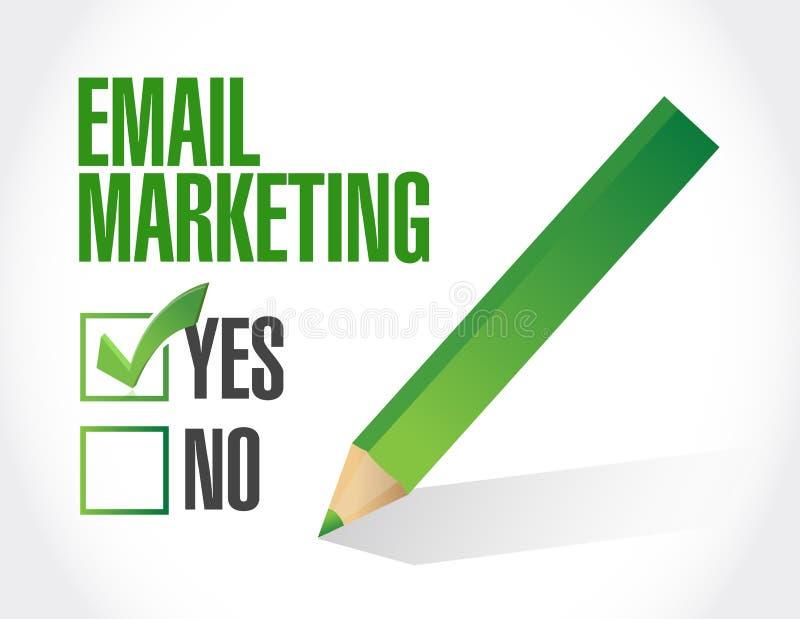 Κανένα σχέδιο απεικόνισης μάρκετινγκ ηλεκτρονικού ταχυδρομείου ελεύθερη απεικόνιση δικαιώματος