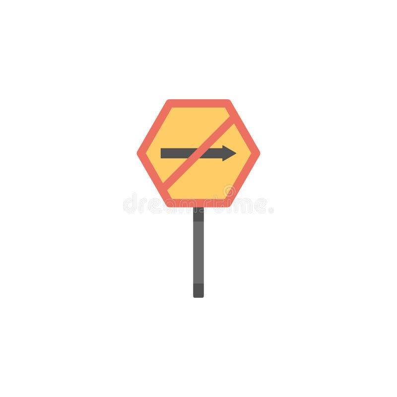 Κανένα σωστό χρωματισμένο εικονίδιο Στοιχείο του εικονιδίου οδικών σημαδιών και συνδέσεων για την κινητούς έννοια και τον Ιστό ap απεικόνιση αποθεμάτων