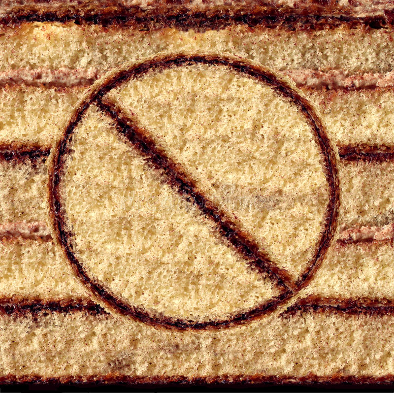 Κανένα σύμβολο κέικ απεικόνιση αποθεμάτων