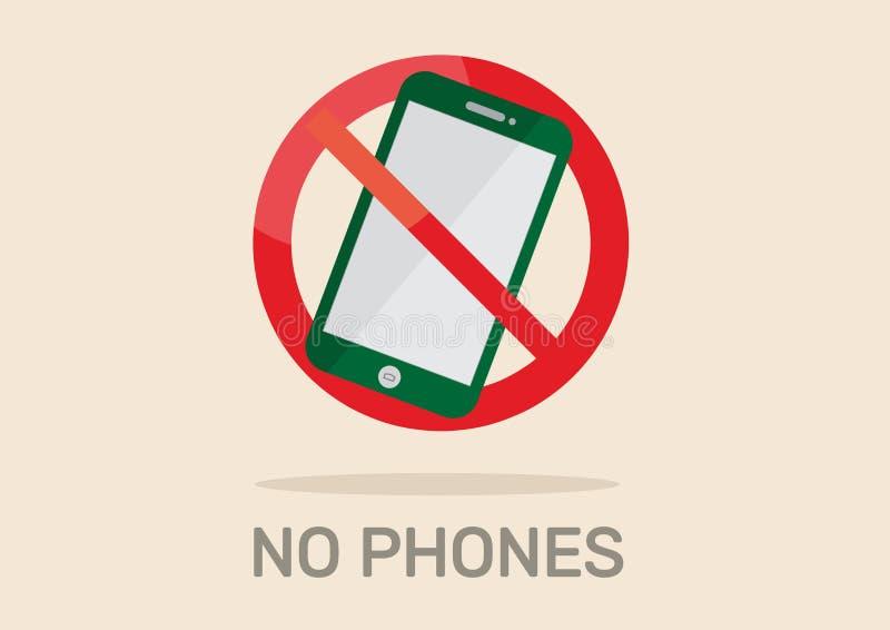 Κανένα τηλεφωνικό σημάδι απεικόνιση αποθεμάτων