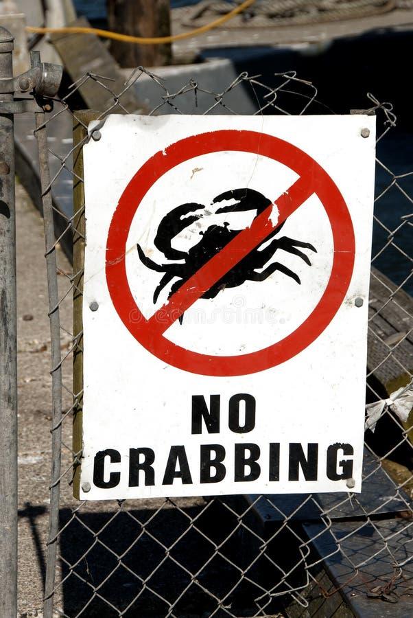 Κανένα Crabbing στοκ εικόνες