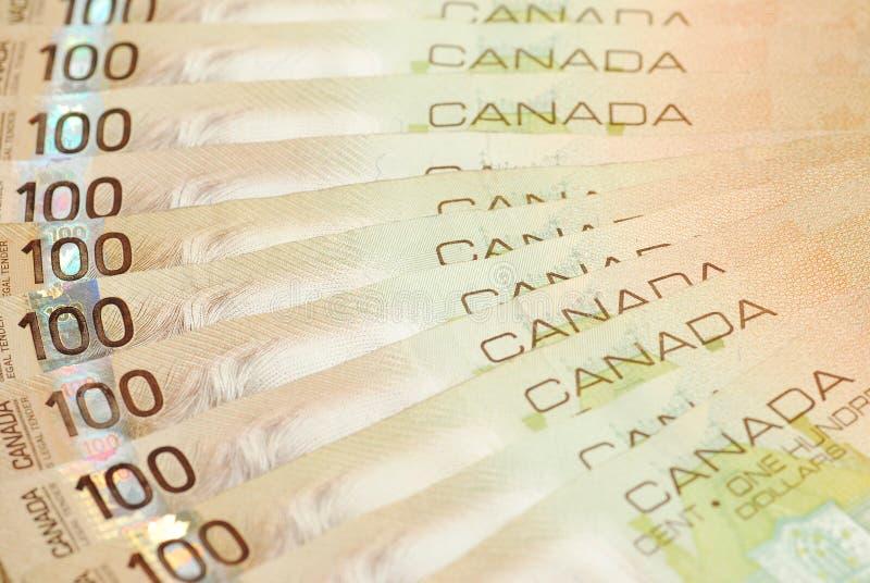 καναδικά χρήματα στοκ εικόνες