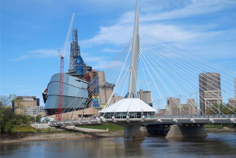 καναδικά esplanade ανθρώπινα δικαιώματα muserum στοκ εικόνες
